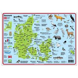 Dækkeserviet til børn m Danmarkskort – Girafprodukter